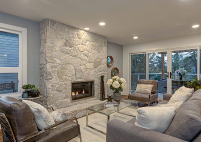 Family Room after | Align West Homes | Kelowna, British Columbia